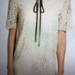 HALOGEN CREAM LACE DRESS SIZE XL